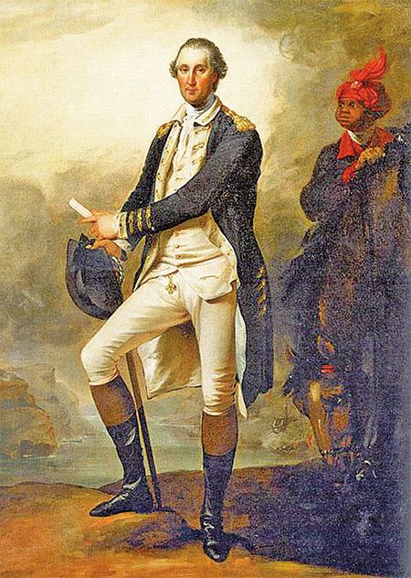 〈華盛頓將軍畫像〉,約翰.特朗布爾(John Trumbull)繪於1780年。(維基公共領域)