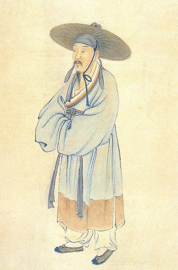 清‧陸游肖像(圖片:維基百科)