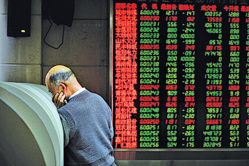 A股第三度試圖加入MSCI失敗,有分析認為,這反映出國際社會對A股市場失去信心,折射出中國經濟的巨大風險。(AFP)