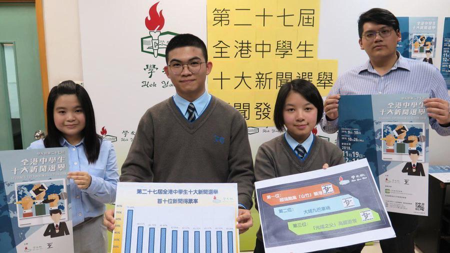 十大新聞選舉 中學生最關注山竹襲港