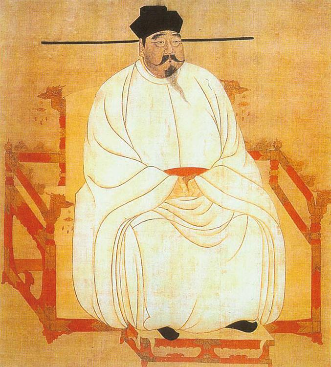 宋太祖趙匡胤肖像。台北故宮博物院藏。(維基百科)