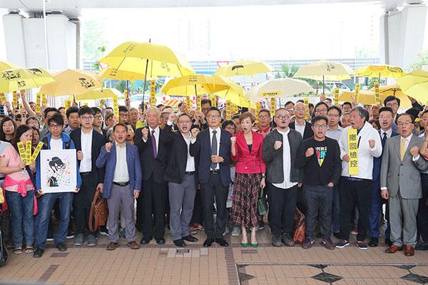九名雨傘運動參與者被控煽惑他人犯公眾妨擾等,全部控罪表證成立。(大紀元資料圖片)