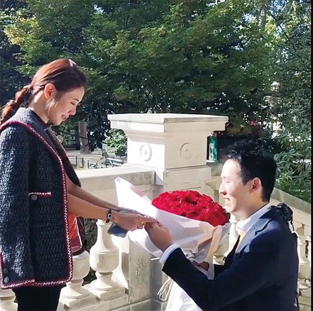 倪晨曦男友巴黎求婚成功
