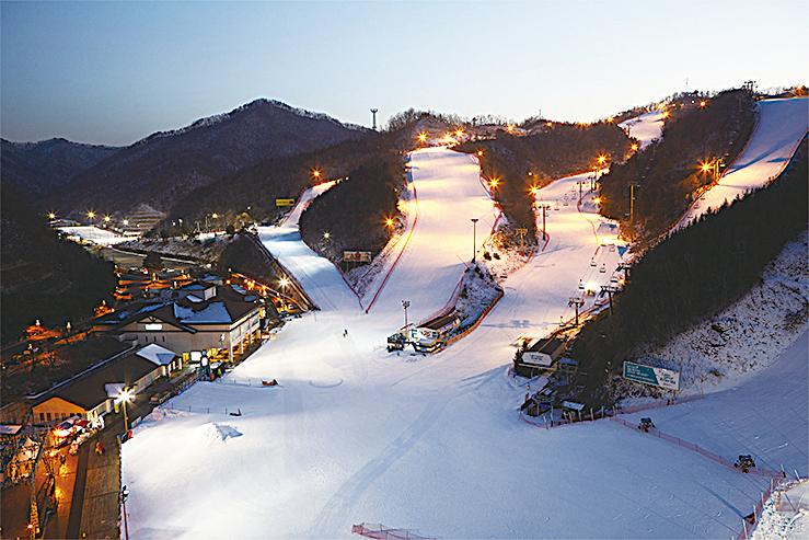 伊利希安江村滑雪場。