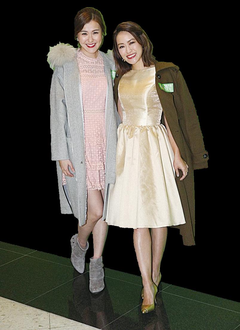 (左起)劉佩玥、梁嘉琪新年願望想身體健康。(網絡圖片)
