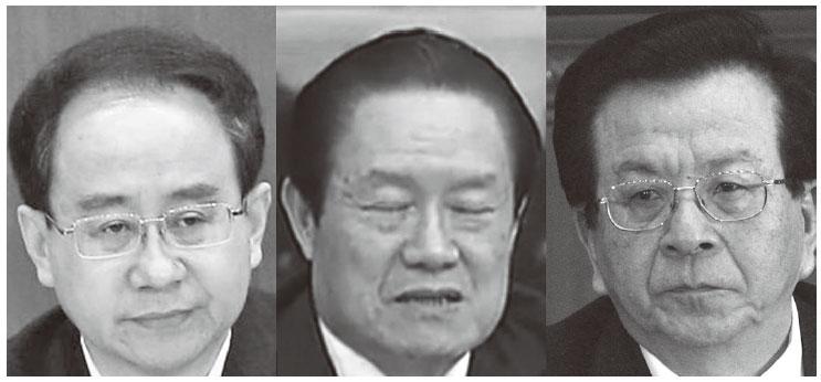 馬建案被指涉及三名中共國級高官:(左)令計劃、周永康、曾慶紅。(網絡圖片)