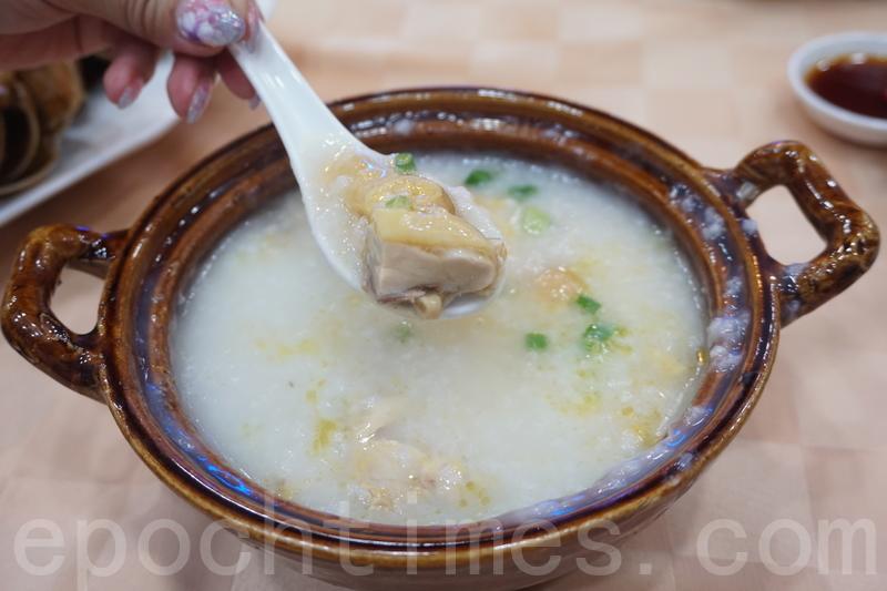 雞粥粥底軟綿,沒有添加味精。