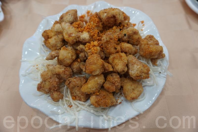 椒鹽雞軟骨,炸得金黃香脆,入口爽脆惹味。