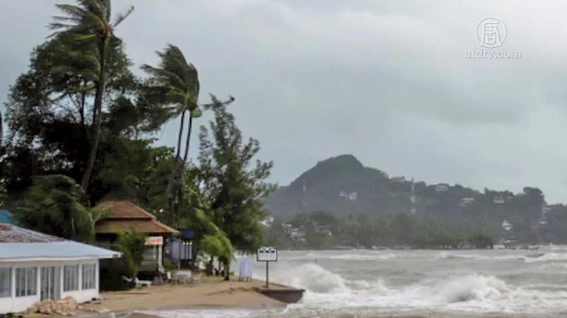 熱帶風暴帕布於上周五(1月4日)在泰國南部登陸。(AFP)