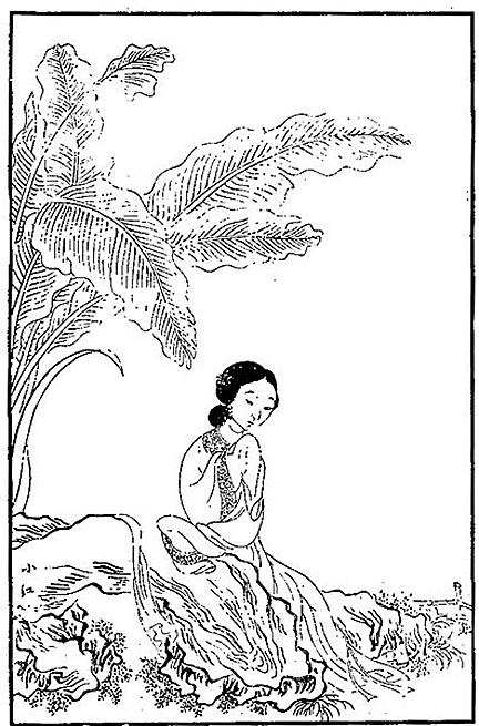 小紅(林紅玉)/清‧改琦繪 (圖片:wikimedia commons)
