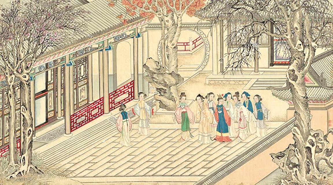 """清代孫溫繪製""""紅樓夢""""圖畫(公有領域)"""
