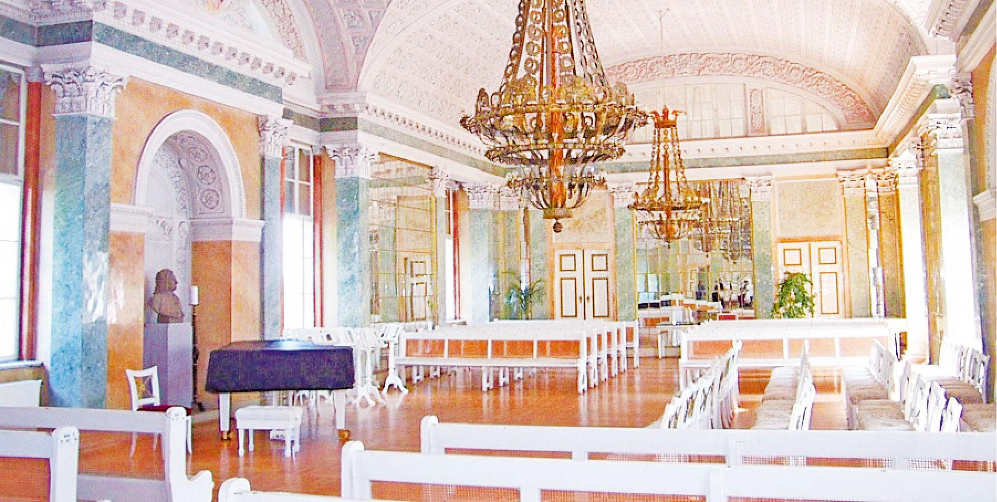 科滕宮裏的巴赫音樂廳。