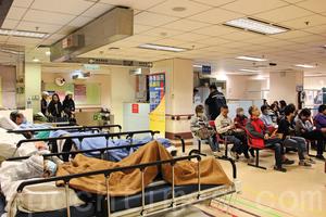 流感高峰公立醫院病床爆滿