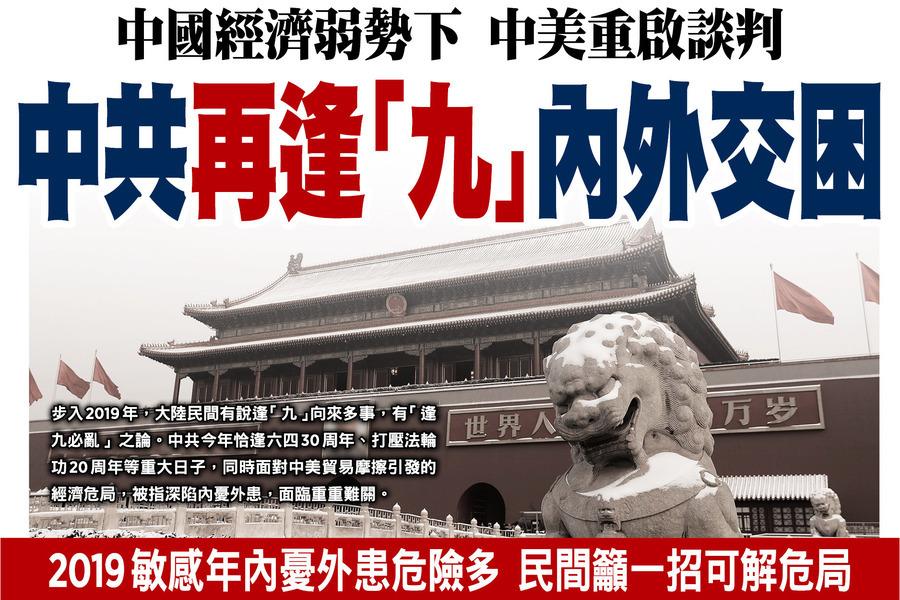 中國經濟弱勢下  中美重啟談判  中共再逢「九」內外交困