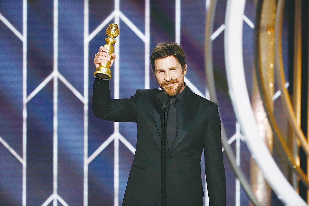 基斯頓比爾(Christian Bale)以《為副不仁》(Vice)奪得音樂/喜劇電影最佳男主角。 (Paul Drinkwater/NBCUniversal via Getty Images)