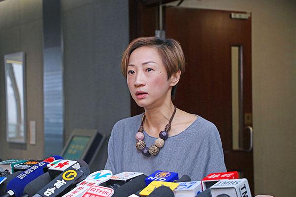 公民黨議員陳淑莊認為事件反映「一地兩檢」剝削港人的權利。(蔡雯文/大紀元)
