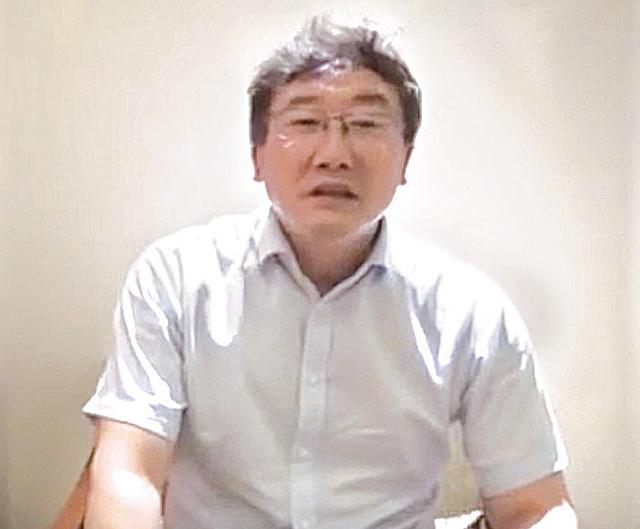疑似最高法院法官王林清為自保,三次錄製影片講述事情。( 影片截圖)