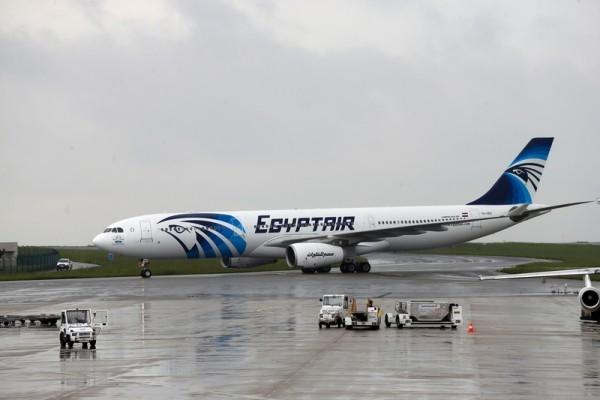 埃及周三宣布在地中海找到MS804殘骸。圖為一架埃及航空的A330空中巴士。(THOMAS SAMSON/AFP/Getty Images)