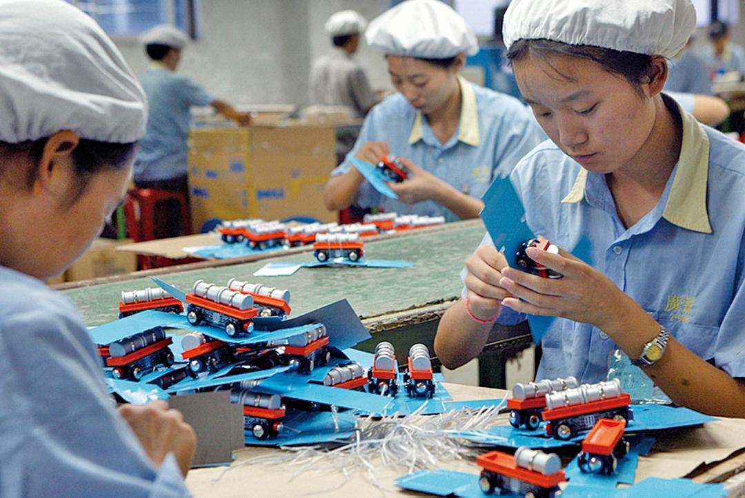 東莞一家玩具工廠。(AFP)