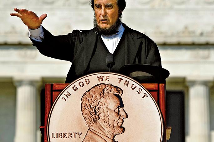 1月10日,在佛羅里達奧蘭多市拍賣會上,海瑞得拍賣行將向世人展示首枚被發現的1943年林肯便士。(Getty Images)