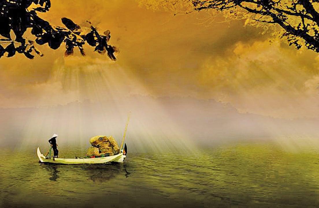 春水碧於天,畫船聽雨眠(圖片:pixabay)