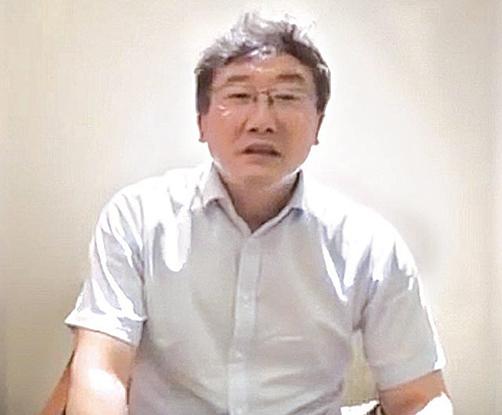 中共最高法院法官王林清為自保,三次錄影講述「陝北千億礦權案」卷宗丟失過程。(影片截圖)