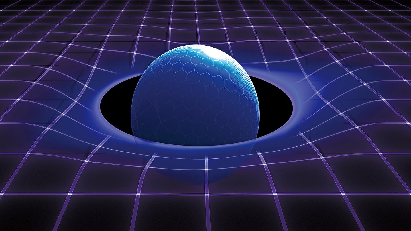 按照迴圈量子理論,時空由小方塊結構的基礎物質構成,不能分割得再小了,因此引力奇點不存在。(Shutter Stock)