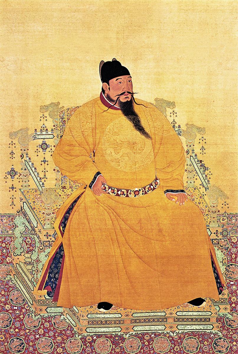 明朝第三代皇帝--明惠宗朱棣畫像。(公有領域)