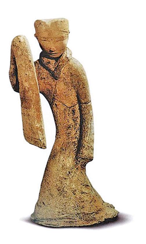 漢代舞蹈陶俑。(公有領域)