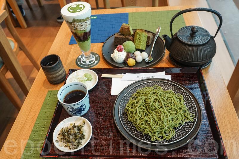 這次點了抹茶芭菲、京之精選和冷抹茶蕎麥麵。