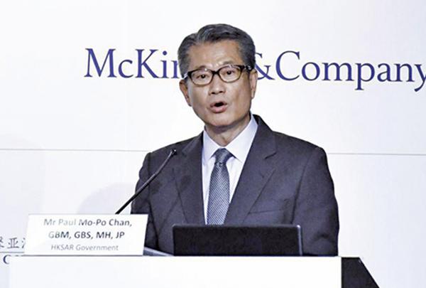 香港財政司司長陳茂波。(郭威利/大紀元)