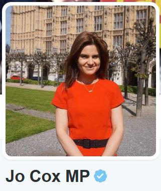 英國在野工黨國會議員考克斯(推特擷圖)