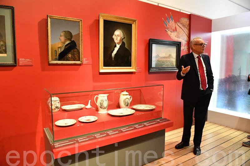 當時的貿中,不少餐具或畫作都用了喬治.華盛頓的肖像。 (圖片/香港海事博物館)