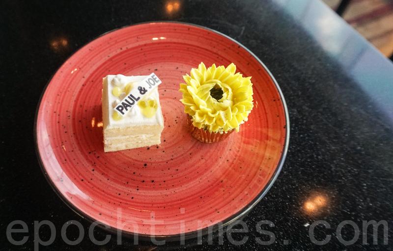 檸檬橄欖油蛋糕(左)及香橙榛子曲奇。