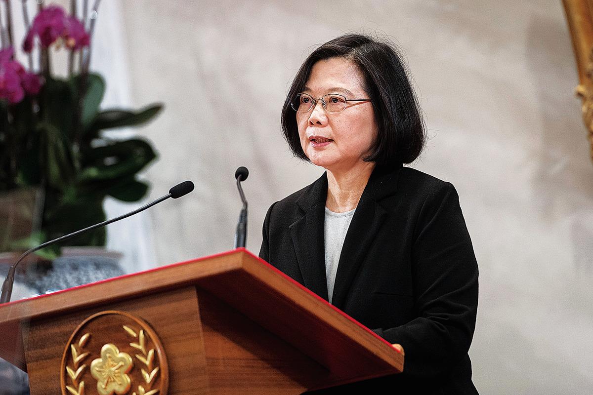 1月2日,中華民國總統蔡英文回應北京言論,表示不接受「一國兩制」,反對中共經濟統戰。(中華民國總統府官網)