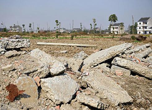 去年大陸土地流拍1,808宗。(AFP)