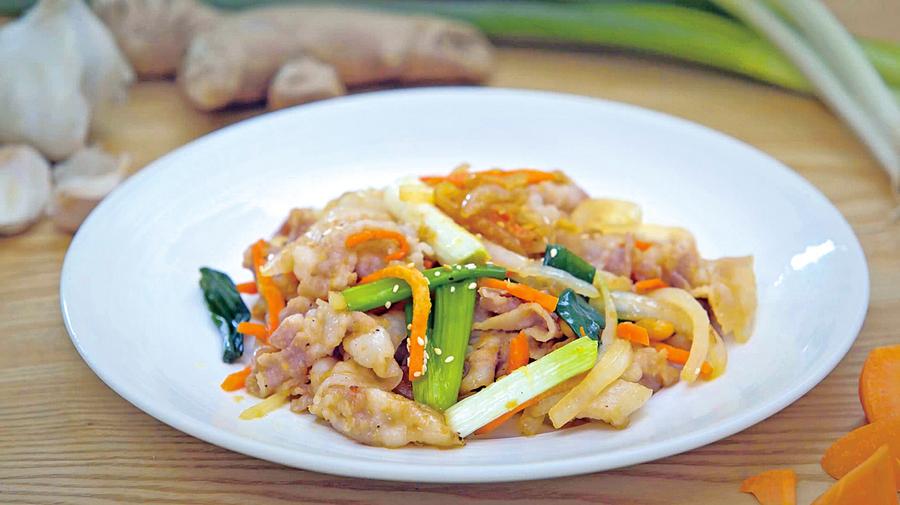 日式家庭料理薑燒豬肉