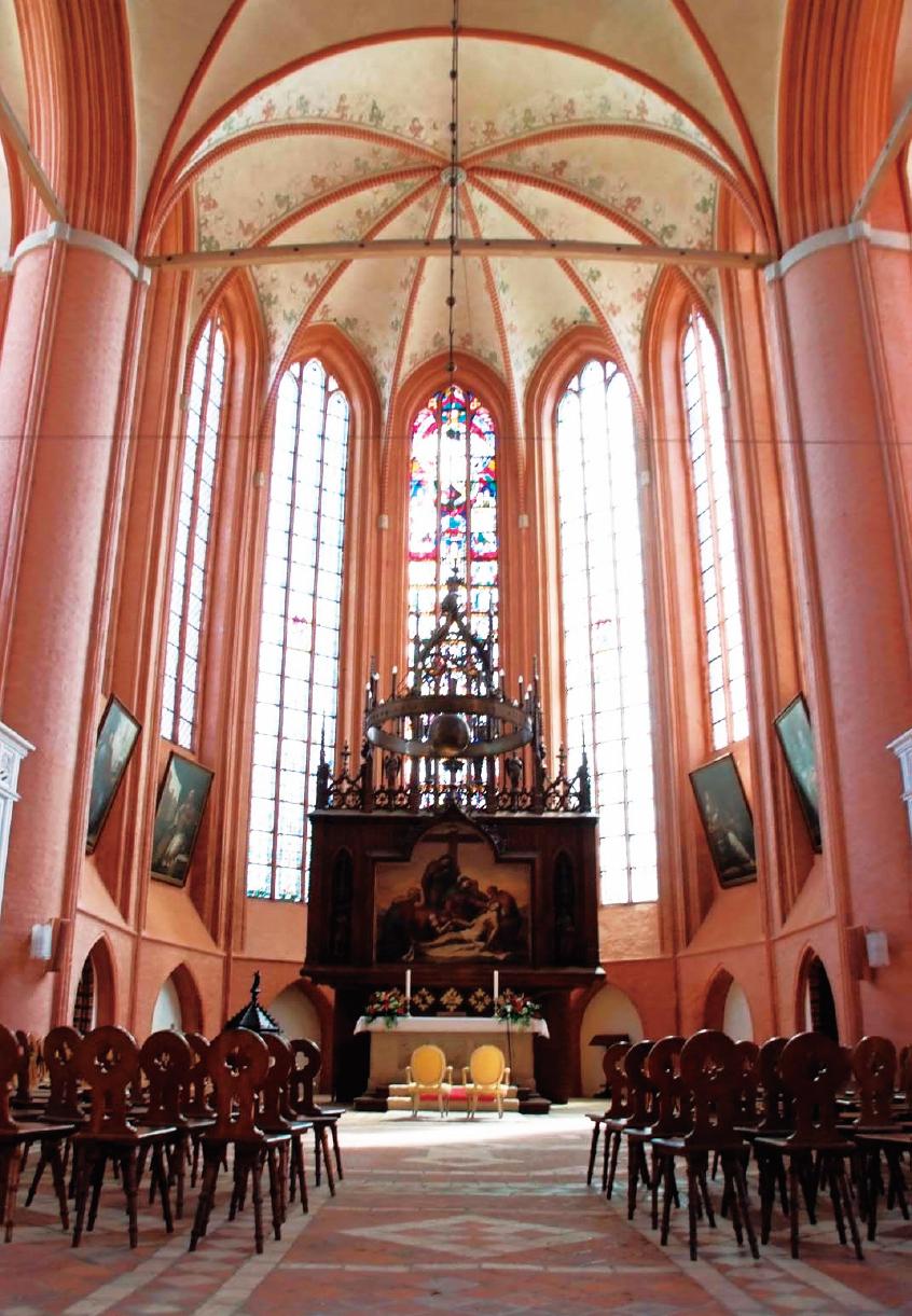 德國北部呂納堡的聖米歇爾教堂內部。