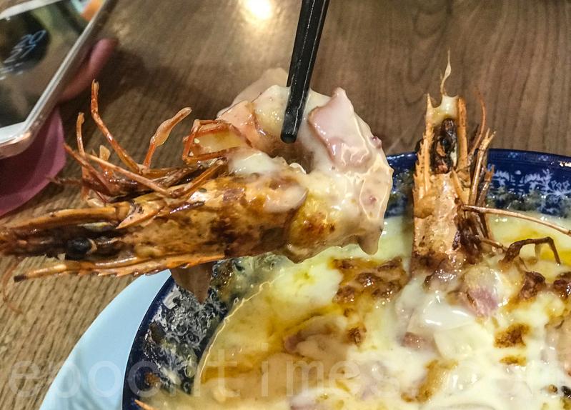 虎蝦為了入味已經去殼,可能因為焗很久,不夠爽口。