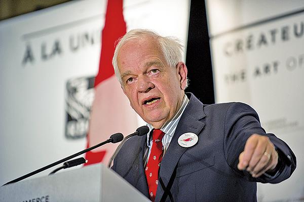就孟晚舟案連日發表偏袒言論的加拿大駐華大使麥家廉,疑因干預加國司法,被加國總理撤職。(ALICE CHICHE/AFP/Getty Images)