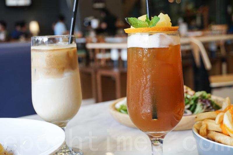 凍Latte(左)同特飲「夏天的尾巴」。