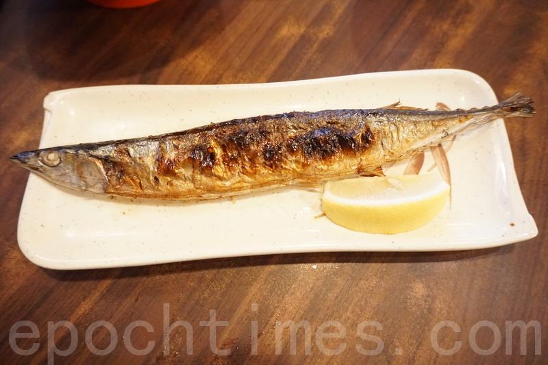 鹽燒秋刀魚。