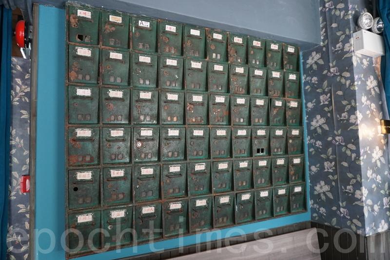 懷舊裝飾:舊信箱。