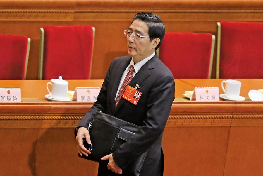 政治局委員郭聲琨被削權