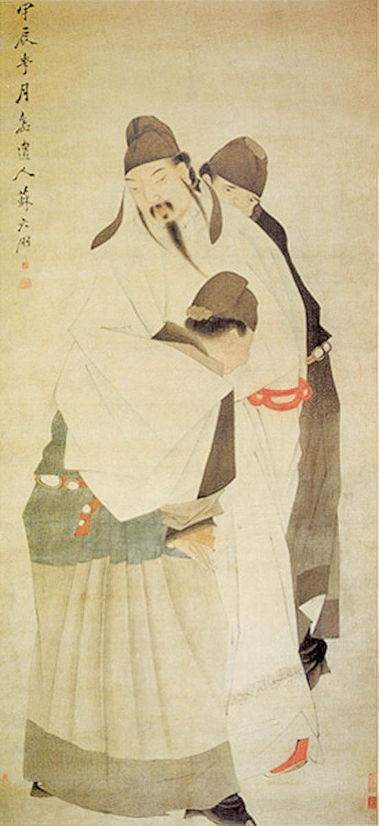 清蘇六朋《太白醉酒圖》(公有領域)