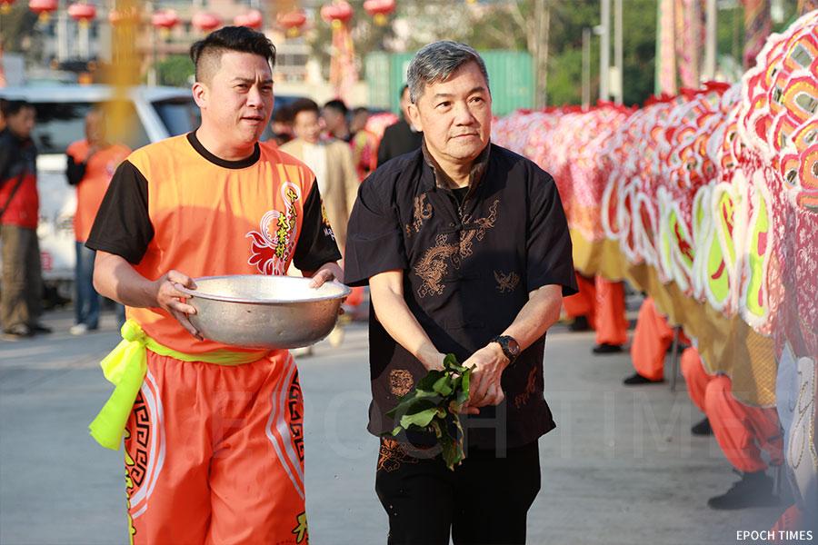 儀式在上午八時許於大棠村村公所前進行。(陳仲明/大紀元)