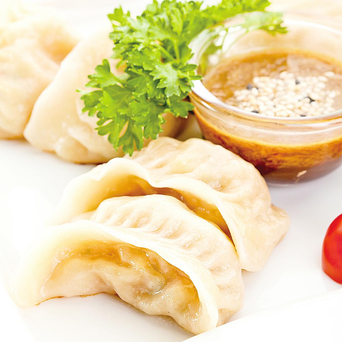 高質素的肉類和蔬菜是美味餃子的唯一食材。