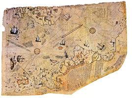 兩張五百年前世界地圖盡顯古文明之發達