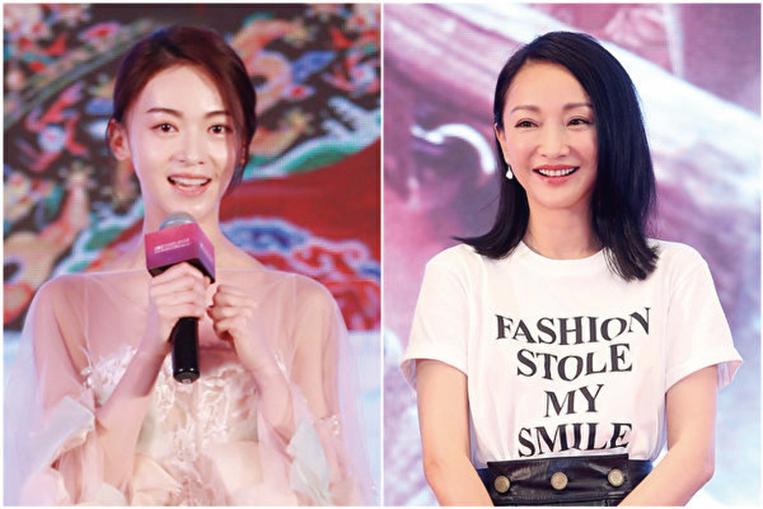 主演《延禧攻略》的吳謹言(左)與主演《如懿傳》的周迅資料照。(大紀元資料室,雙喜電影/大紀元合成)