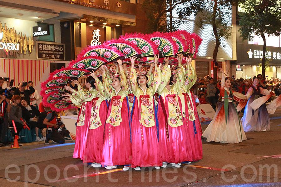 韓國舞蹈表演。(陳仲明/大紀元)
